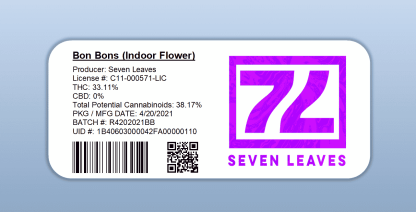 Seven Leaves - Bon Bons (barcode label)