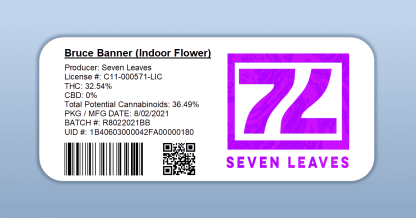 Seven Leaves - Bruce Banner (barcode label)