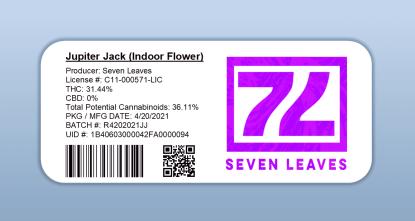 Seven Leaves - Jupiter Jack (barcode label)