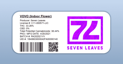 Seven Leaves - Vovo (barcode label)