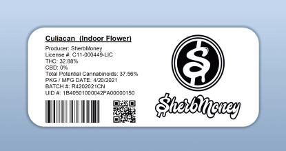 SherbMoney - Culiacan (barcode label)