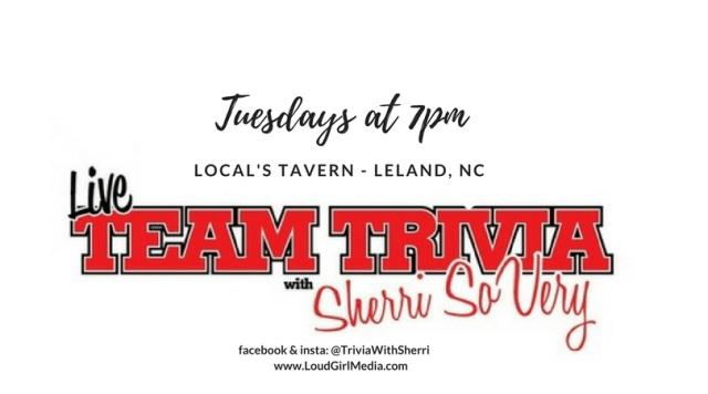 Trivia with Sherri 'So Very' – Tuesdays at Local's Tavern