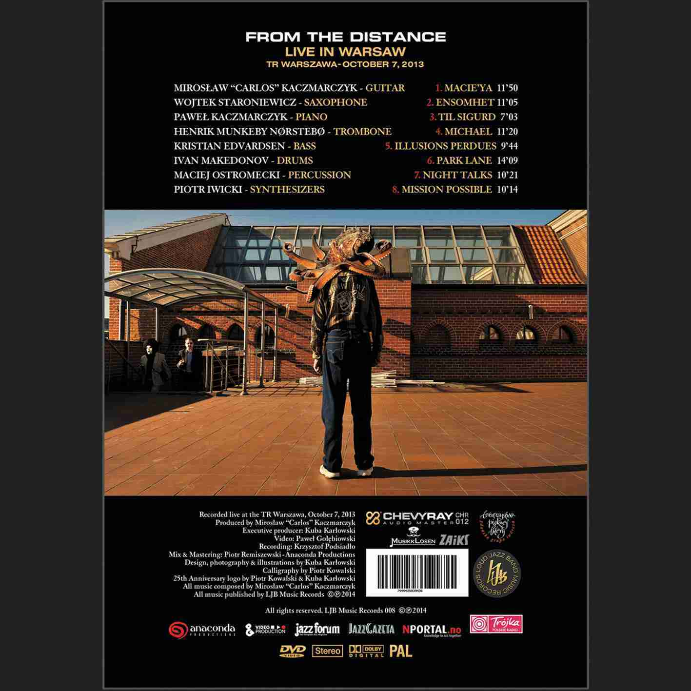 From the Distance Live in Warsaw back cover