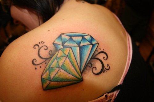 20 3d Diamond Tattoos On Women Stomach Ideas And Designs