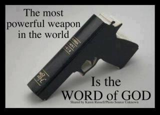 Gun-shaped Holy Bible