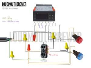 DIY STC1000 2Stage Temperature Controller Wiring Diagram