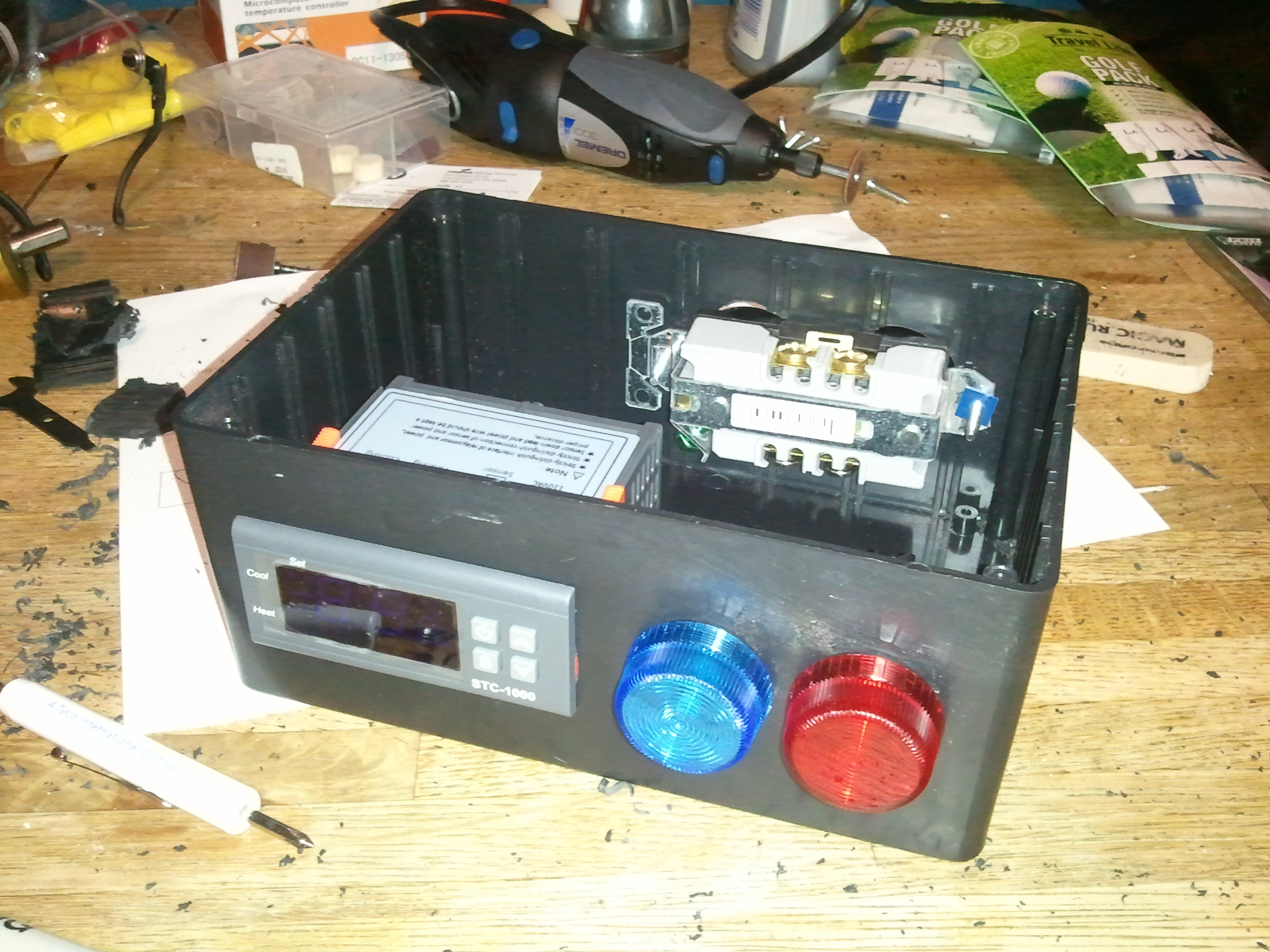 stc 1000 temperature controller wiring honda mt50 diagram diy 2 stage