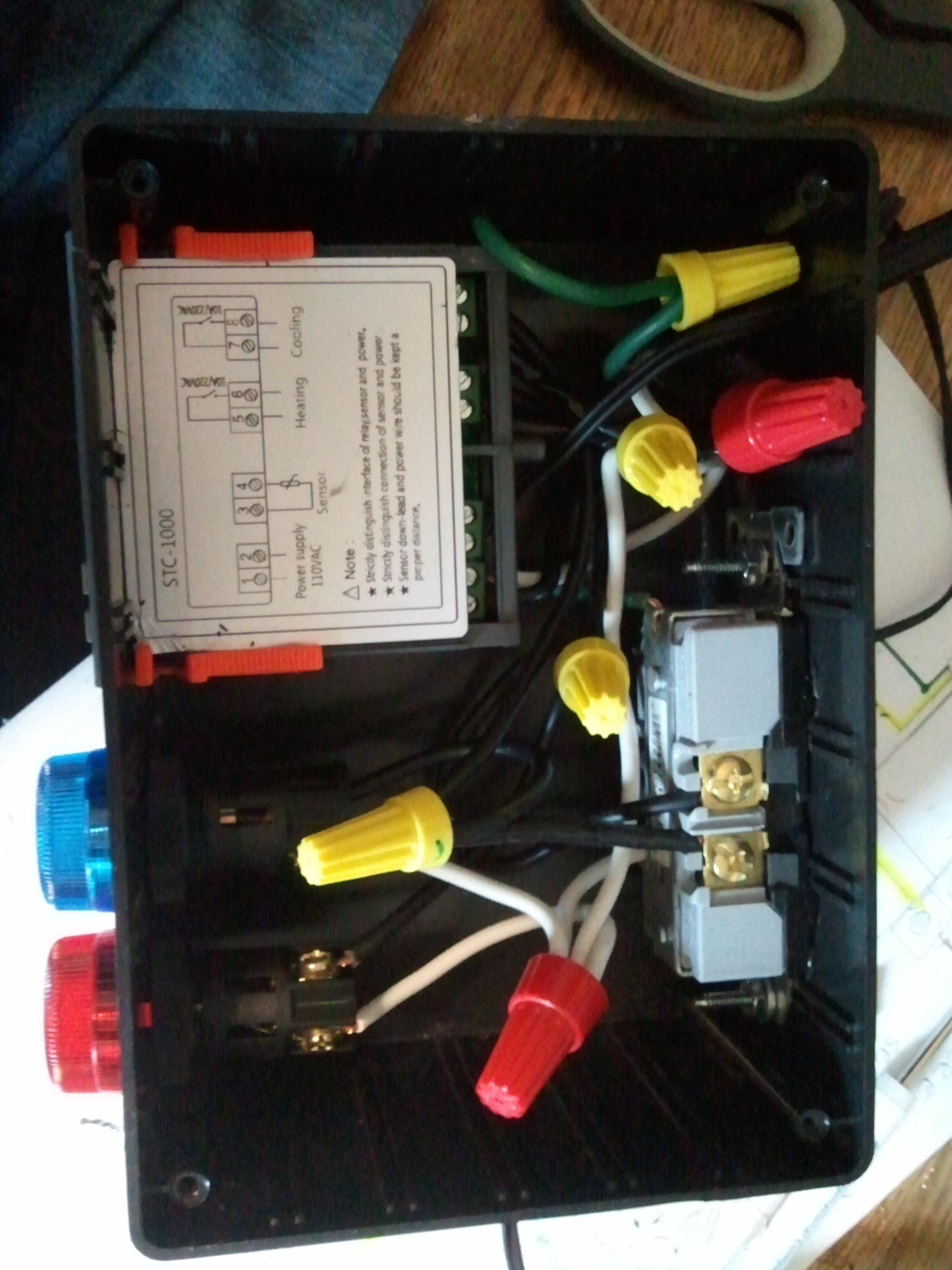 stc 1000 temperature controller wiring light switch receptacle diagram itc f nemetas aufgegabelt info diy 2 stage withdiy