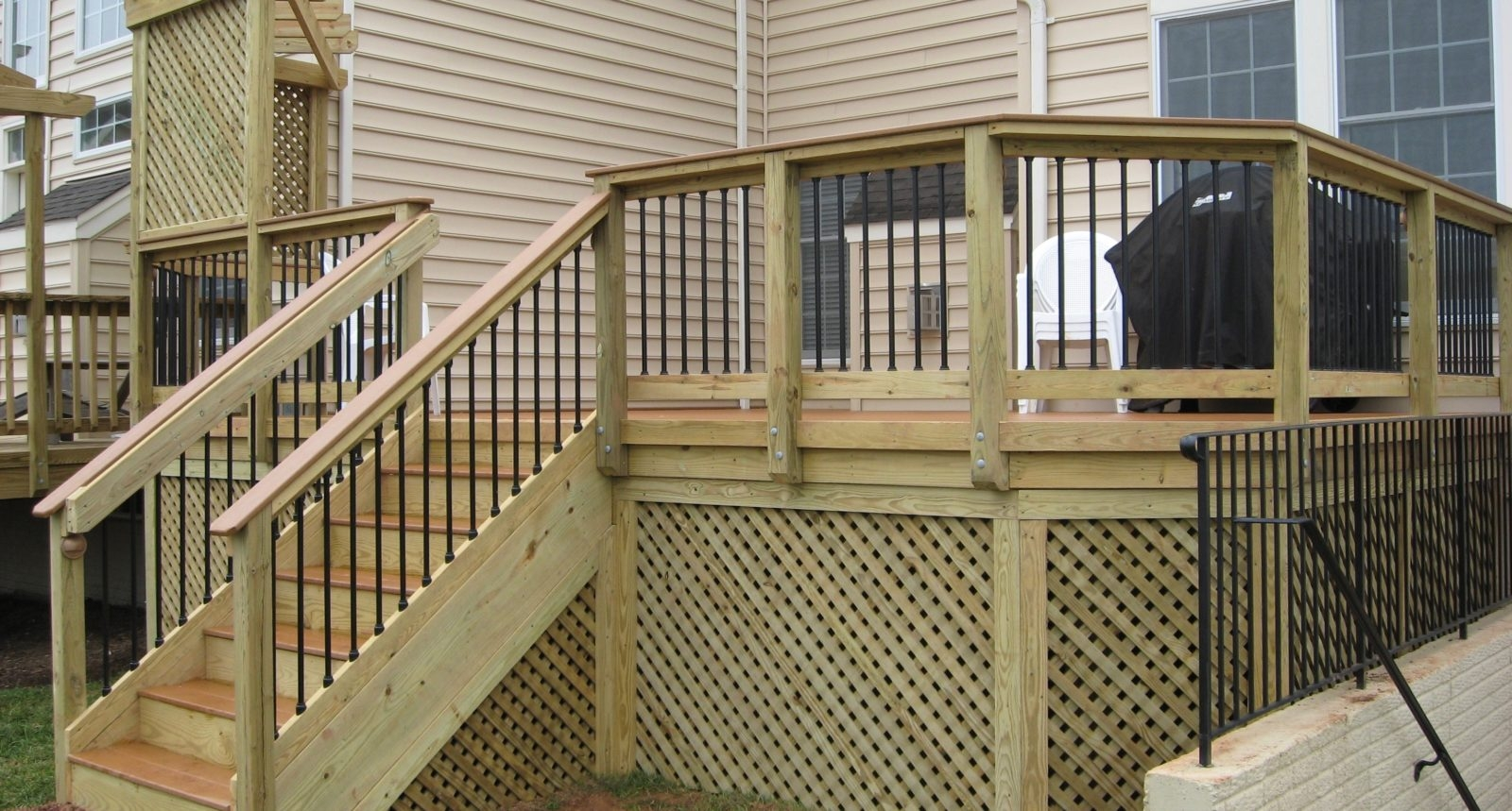Deck Builder In Loudoun County Loudoun Deck Fence | Pressure Treated Stair Treads | Wide | 3 Ft | Picture Frame | Glue Block | Deck