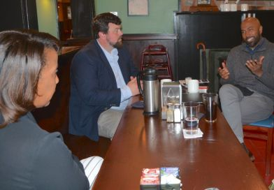 Lt. Governor Candidate Perryman Tours Downtown Leesburg