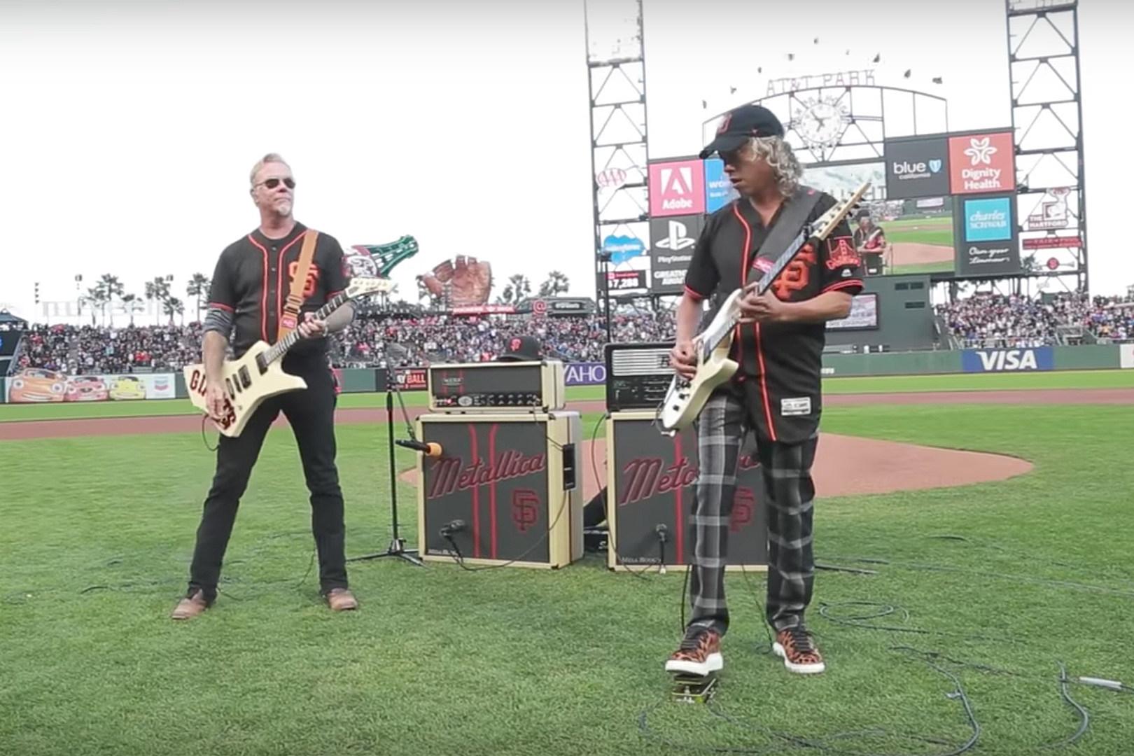 Watch Metallica Perform National Anthem at San Francisco Giants