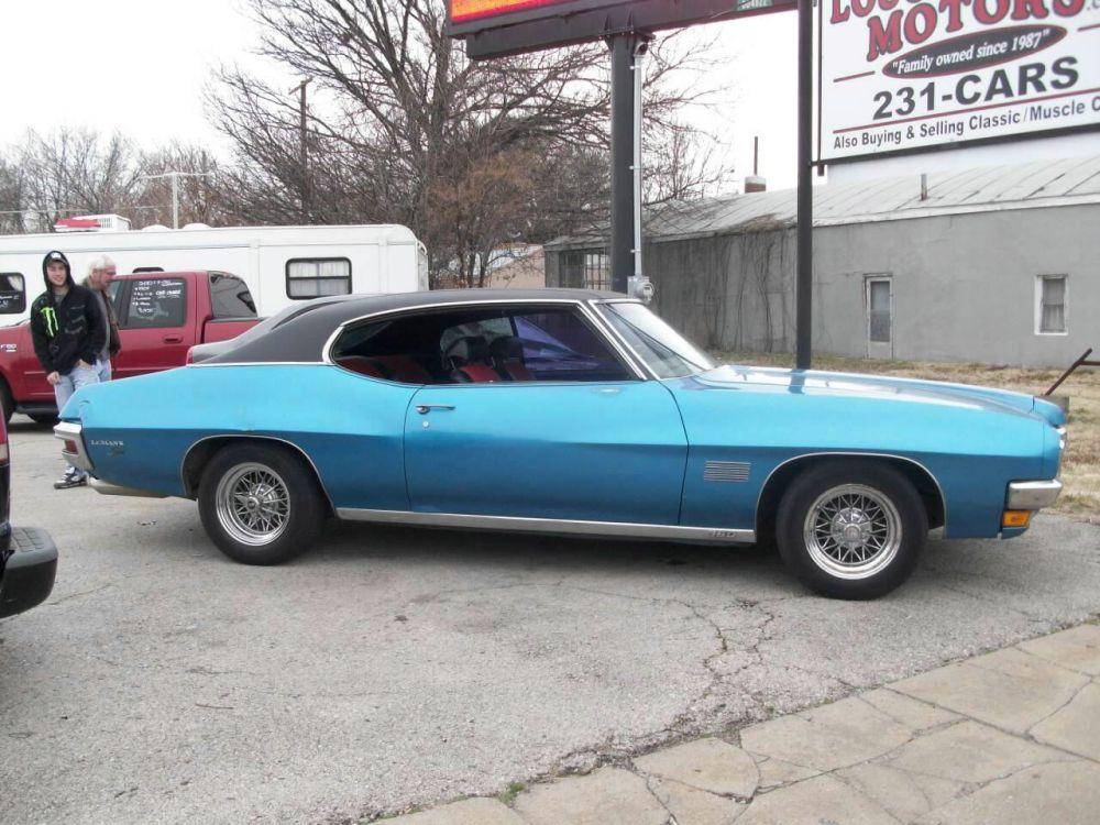 medium resolution of 1970 pontiac lemans sport bright blue black red cloth interior v 8 350 auto two door hardtop was an a c car am fm
