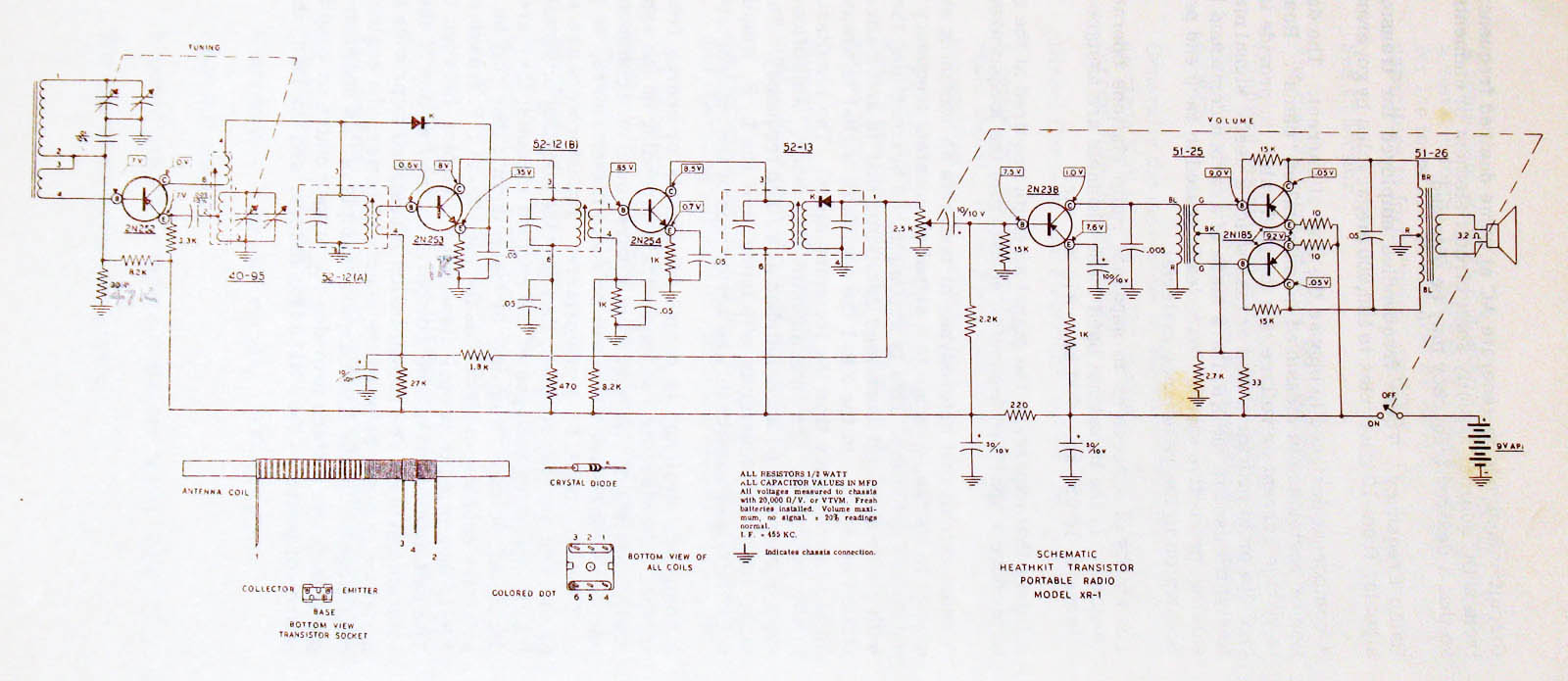 hight resolution of i believe i narrowed down an issue but need to understand what is typical since this is my first transistor radio rework here is the schematic for