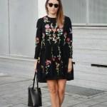 Erstaunlich Schwarzes Kleid Mit Blumen Spezialgebiet Fantastisch Schwarzes Kleid Mit Blumen Galerie
