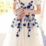 Abend Schön Blau Weißes Kleid Boutique10 Schön Blau Weißes Kleid Ärmel