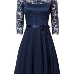 Formal Erstaunlich Kleid Spitze Blau Vertrieb15 Coolste Kleid Spitze Blau Bester Preis