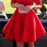 Abend Schön Rotes Kleid Festlich ÄrmelDesigner Einfach Rotes Kleid Festlich Spezialgebiet