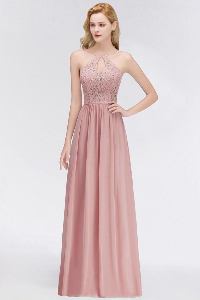 15 Schön Kleid Altrosa Lang Spezialgebiet - Abendkleid