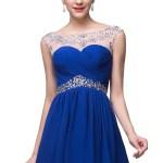 Abend Fantastisch Kleid Royalblau Kurz Ärmel10 Spektakulär Kleid Royalblau Kurz Stylish