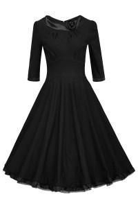 10 Leicht Schwarzes Kleid Knielang Stylish Genial Schwarzes Kleid Knielang Spezialgebiet