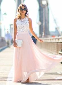 10 Einfach Rosa Kleid Lang Spitze StylishDesigner Einfach Rosa Kleid Lang Spitze für 2019