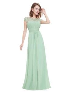 Schön Mint Kleid Lang ÄrmelDesigner Elegant Mint Kleid Lang Vertrieb