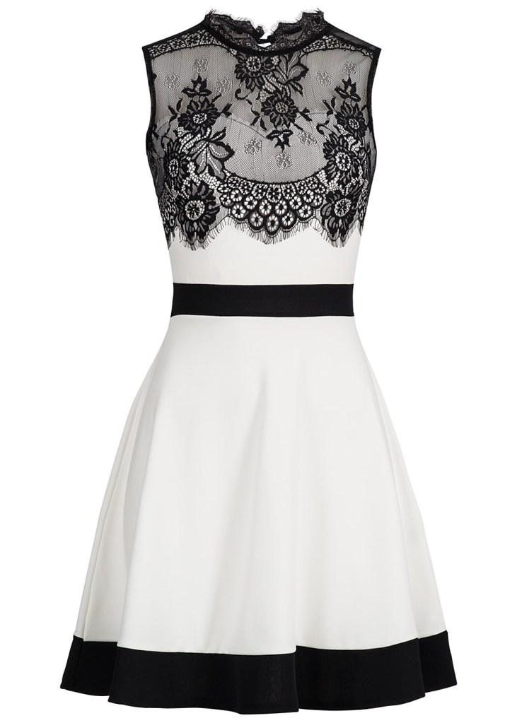 10 Großartig Damen Kleid Schwarz Weiß Spezialgebiet   Formal Coolste Damen  Kleid Schwarz Weiß Ärmel b5c26d4bd2