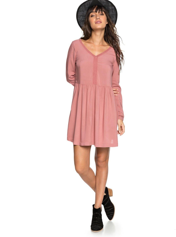 Kleid rosa langarm spitze - Stylische Kleider für jeden tag