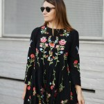 Spektakulär Schwarzes Kleid Mit Blumen Galerie10 Coolste Schwarzes Kleid Mit Blumen Design