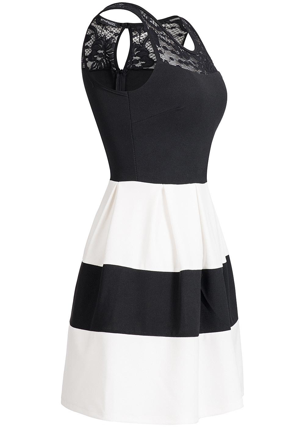 Kleid schwarz weib 44