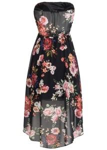 Abend Luxurius Kleid Schwarz Blumen SpezialgebietFormal Luxurius Kleid Schwarz Blumen Spezialgebiet