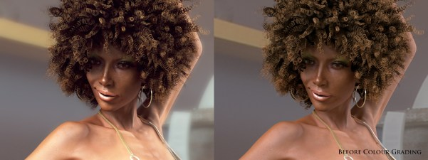 Afrochick VrayComp_BeforeAfter