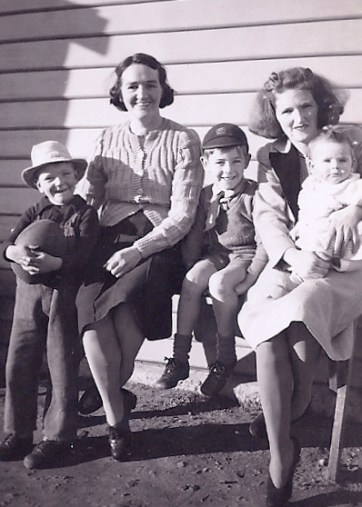Olive Allan and kids