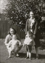 My grandmother and a relative, with my father and uncle.