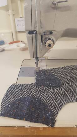 sewing up the heels and toes