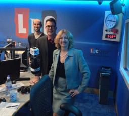Talking currrent affairs with Ian Collins on LBC