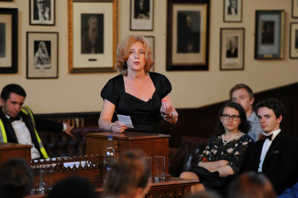 Speaking at the Cambridge Union