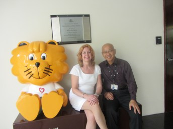 Visiting the World Kindness Movement in Singapore.