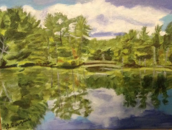 Reflections Quinebaug River Acrylic 9 X 12 Louise'