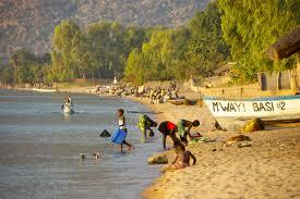 Fishing community, Senga Bay, Lake Malawi