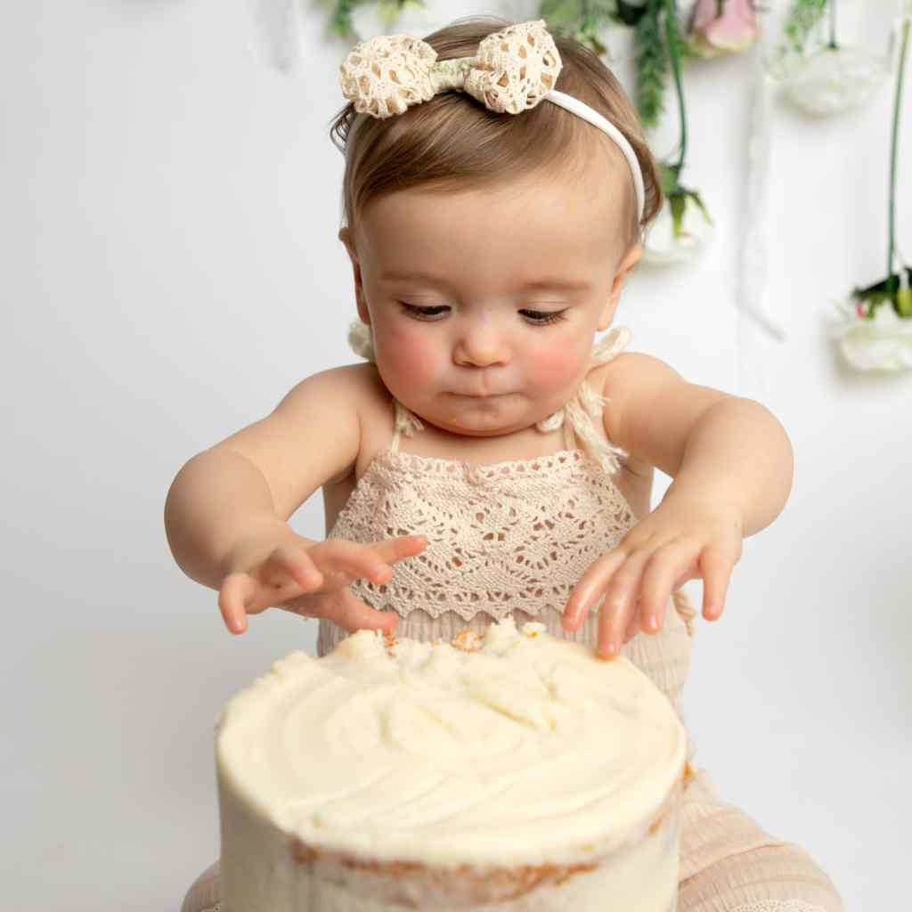 1st birthday cake smash photography taken in Haywards Heath