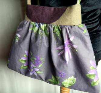 Louise.h accessoires sac tissu et lin peint