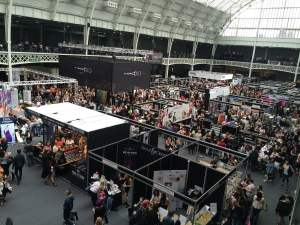 Picture of a large trade show.
