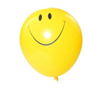 Yellow Balloon with smiley face
