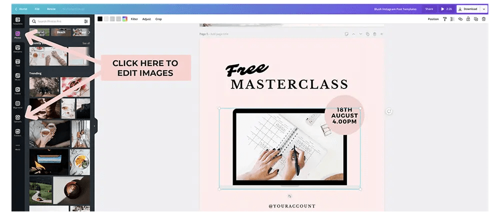 edit images in canva