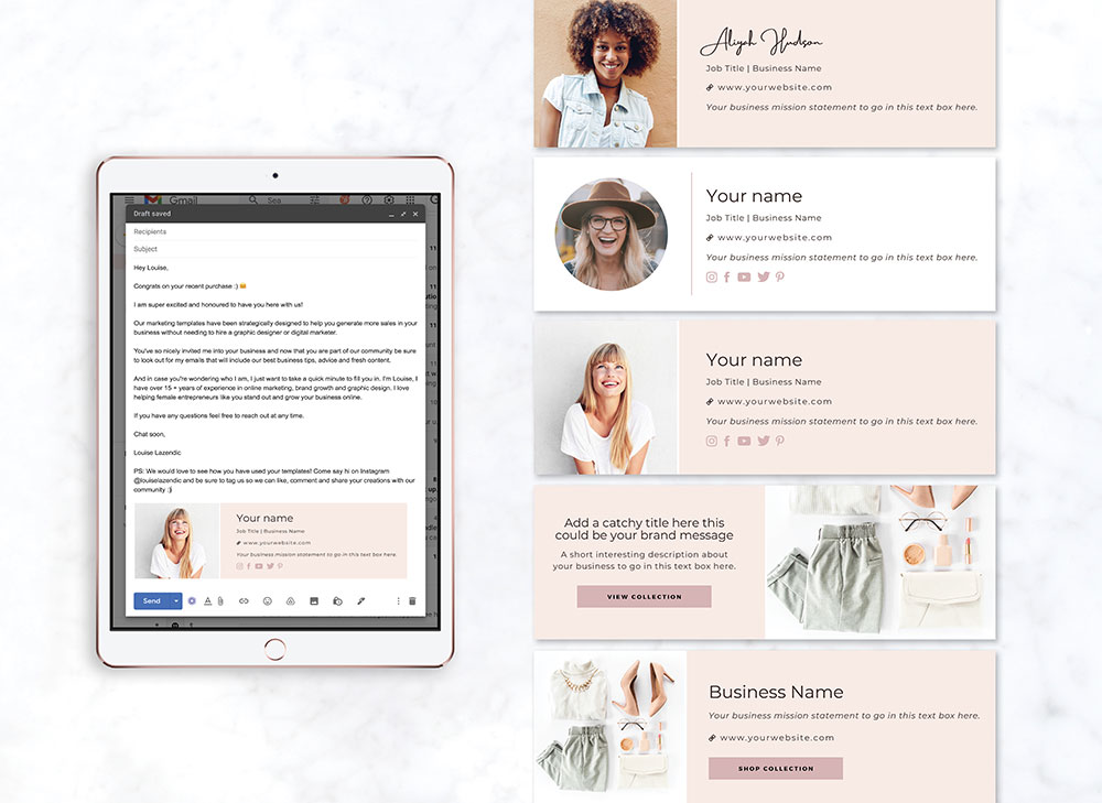 Email-signature-templates-louise-lazendic-marketing-branding