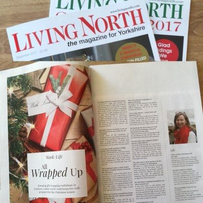 Appearing in Living North (Yorkshire edition) Dec 2017
