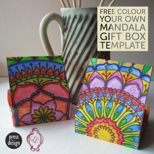 2 mandala boxes coloured in