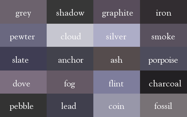 cool color thesaurus 240