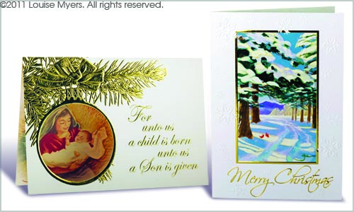 Christmas Card Designs With Foiling Printed Samples